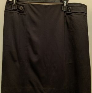 White House Black Market size 12 black lined skirt